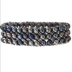 Jewelry - Black Pearl Multicolored Stretch Bracelet